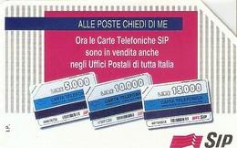 *ITALIA - SIP: ALLE POSTE CHIEDI DI ME* - Scheda Usata (variante NON CATALOGATA) - Italie