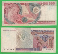 100000 100.000 Lire 10-5-1982 Botticelli Repubblica Italiana - 100000 Lire