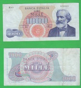 1000 1.000 Lire 1968 Verdi 1° Tipo Repubblica Italiana Alfa RARO3 - [ 2] 1946-… : Républic