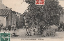 DINTEVILLE - LA GRANDE RUE - BELLE CARTE TRES ANIMEE -  TOP !!! - France