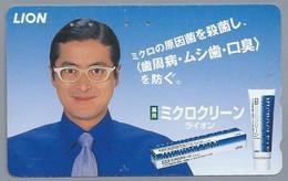 JP.- Japan, Telefoonkaart. Telecarte Japon. - LION -. - Reclame