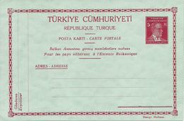 Turkey; 1938 Postal Stationery Isfila AN 160 - 1921-... Republic
