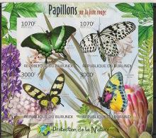 Burundi - 2012 - N°1576 à 1579 - Papillons - Non Dentelé / Imperf. - Neuf Luxe ** / MNH / Postfrisch - Cote 18€ - Schmetterlinge