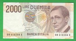 2.000 2000 Lire 1992  G. Marconi  Repubblica Italiana Alfa BI 744 - [ 2] 1946-… : Républic