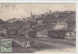 Romont - La Gare - Belle Animation - 1907      (P-97-100412) - VD Vaud