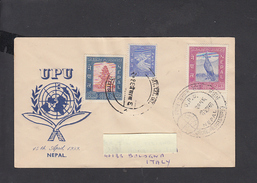 NEPAL 1959 - Lettera Per L'Italia - Rinoceronte - Rhinozerosse