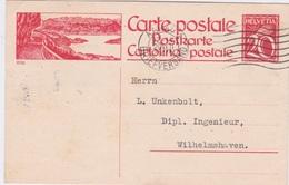 "Switzerland-1924 20 Cents Red ""Tourist Series"" Postal Stationery Postcard Aarau Cover To Germany. - Interi Postali"