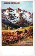 Chemin De Fer : Carte Ancienne Des Editoons J.Barreau : PLM Le Lautaret - Ferrocarril