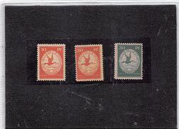 DEUTSCHE REICH 1912- 10PF, 20PF, 30 PF. MIT FALZ MICHEL I, II, III, SCHWABEN FLUGPOSTMARKEN - Alemania