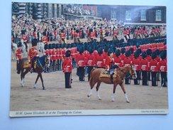 D155537  Horse Pferd Cheval - HM Queen Elizabeth  II  At The Trooping The Colour - Pferde