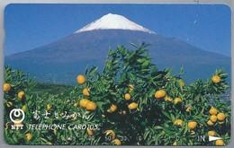 JP.- Japan, Telefoonkaart. Telecarte Japon. NTT. TELEPHONE CARD 105 - Volcans
