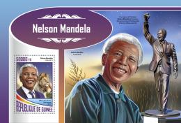 GUINEA REP. 2017 ** Lion Löwe Nelson Mandela S/S - OFFICIAL ISSUE - DH1747 - Raubkatzen
