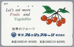 JP.- Japan, Telefoonkaart. Telecarte Japon. Let's Eat More Fruits And Vegetables. - Levensmiddelen