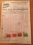 11-2-1941-GRAMMONT-FERD. VAN WAYENBERGHE-MANIFACTURE DE CASQUETTES - 1900 – 1949
