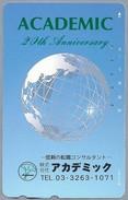 JP.- Japan, Telefoonkaart. Telecarte Japon. ACADEMIC 20th Anniversary - - Telefoonkaarten