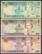 Fiji - 2 Dollars 2002 + 5 Dollars 2002 + 10 Dollars 2002 - Fiji