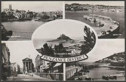 Multiview - Penzance, Cornwall, C.1950s - Sweetman RP Postcard - England
