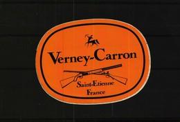 Autocollant  -    Lot De 2  -  Chasse   VERNEY-CARRON  Saint-Etienne  -  FRANCHI - Stickers