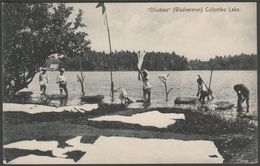 Dhobles (Washermen), Colombo Lake, Ceylon, C.1910s - Plâté Postcard - Sri Lanka (Ceylon)