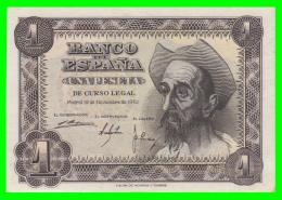 ESPAÑA BILLETE DEL BANCO DE ESPAÑA  1 Pta. AÑO 1951 - [ 3] 1936-1975 : Régence De Franco