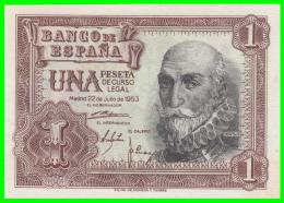 ESPAÑA BILLETE DEL BANCO DE ESPAÑA  1 Pta. AÑO 1953 - [ 3] 1936-1975 : Régence De Franco
