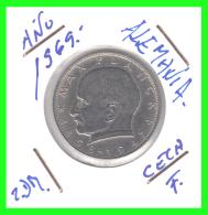 GERMANY  MONEDA DE 2 DM.  AÑO 1969-F - [ 7] 1949-… : RFA - Rep. Fed. Alemana