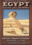 Egypt British Turbine Steamers 1907 - Postcard - Poster Reproduction - Publicité