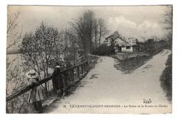 94 VAL DE MARNE - VILLENEUVE SAINT GEORGES La Seine Et La Route De Choisy (voir Descriptif) - Villeneuve Saint Georges
