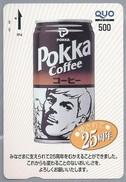 JP.- Japan, Telefoonkaart. Telecarte Japon. - POKKA - QUO 500. POKKA COFFEE. - Reclame