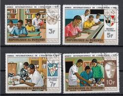 Burundi 1970 Sc. 343/346 International  Education Year CTO Full Set - Burundi