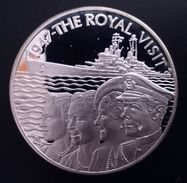 "Saint Helena Island 50 Pence 2002 Silver Proof ""1502-2002 Quincentenary Royal Visit"" Free Shipping Via Registered - Sainte-Hélène"