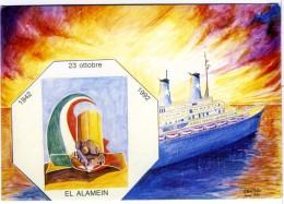 CIRENE  Viaggi E Vacanze  Illustrata Sign Vittorio Balla   Ricordo Della Battaglia Di El Alamein - Piroscafi
