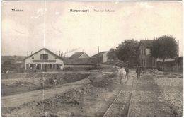 Carte Postale Ancienne De BARONCOURT-vue Sur La Gare - France