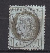 N° 50 Céres 1 Centime Vert Olive - 1870 Bordeaux Printing