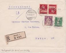 SUISSE 1920 LETTRE RECOMMANDEE DE ZURICH SANS  CACHET ARRIVEE - Schweiz