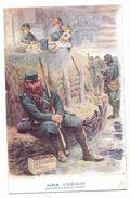CARTE PUBLICITAIRE BANANIA - Militaria Guerre 14-18 - Mes Chéris, Soldats, Petit Déjeuner Avec BANANIA - Publicidad