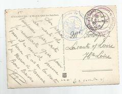 Marcophilie Cachet Ministre De L'air Centre National Des Sports Aériens De Strasbourg Le Commandant Alsace 1945 - Marcophilie (Lettres)