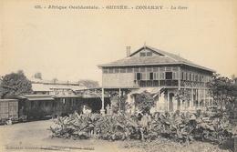 Afrique Occidentale - Guinée, Conakry - La Gare (train En Gare) - Collection Fortier, Carte Non Circulée - Guinée Française