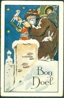 Illustrateur A. RAYNOLT Bon Noël Père Noël Jouets - Illustrateurs & Photographes