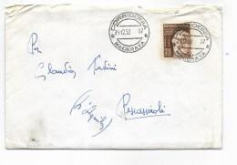 Repubblica Lire 25 Centenario Di Vincenzo Gemito 1952 Su Busta - 6. 1946-.. Republik