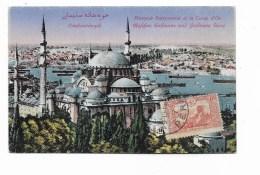 COSTANTINOPOLI MOSQUE SULEYMANIE ET LA CORNE D'OR VIAGGIATA  FP - Turchia