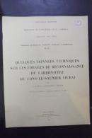 Quelques Donnees Techniques Sur Les Forages De Reconnaissance Du Carbonifere De Lons Le Saunier - Bourgogne