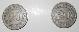 Lotto 2 Monete - REGNO D' ITALIA - 20 Centesimi 1894 - Umberto I - (11) - 1861-1946 : Regno