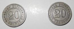 Lotto 2 Monete - REGNO D' ITALIA - 20 Centesimi 1894 - Umberto I - (11) - 1900-1946 : Vittorio Emanuele III & Umberto II