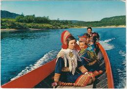 Lapps  On The River / Samer I Elvebat - (Norway/Norge) - Noorwegen