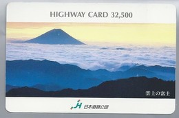 JP.- Japan, Telefoonkaart. Telecarte Japon. HIGHWAY CARD 32,500 - Volcanes