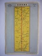 Avion / Airplane / SABENA / Air Route / Haren - Paris / Airline Issue - 1946-....: Modern Tijdperk