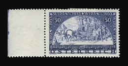 AUTRICHE N° 430 50g + 50g Bleu Exposition De Vienne. Neuf Avec Charnière. BdF. Cote Yvert 230 €. TTB - Ungebraucht