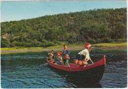 Lapps In Their River-boat  / Samer I Elvebat - (Norway/Norge) - Noorwegen