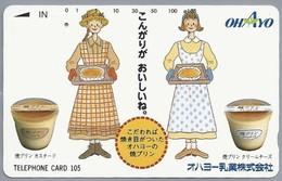 JP.- Japan, Telefoonkaart. Telecarte Japon. TELEFHONE CARD 105.  OHAYO. - Reclame